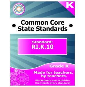 RI.K.10 Kindergarten Common Core Lesson