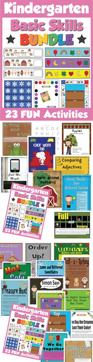 Kindergarten Activities Bundle