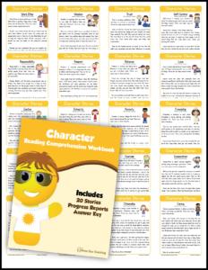 Kindergarten Character Education Reading Comprehension Mega Bundle