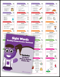 Kindergarten Sight Words Reading Comprehension Mega Bundle