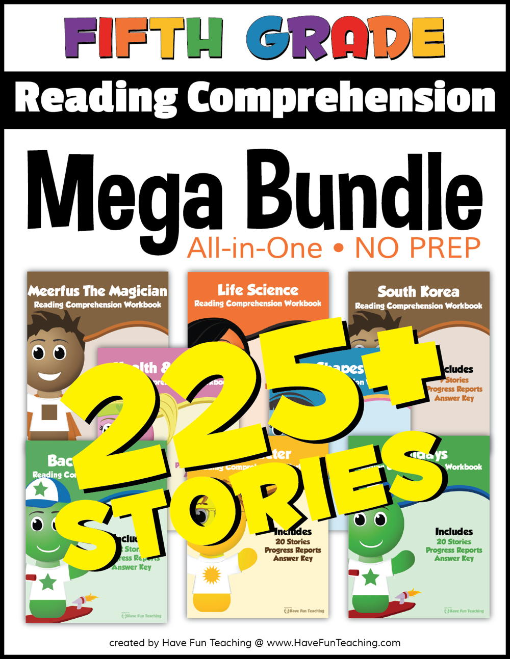 Fifth Grade Reading Comprehension - No Prep All In One Mega Bundle