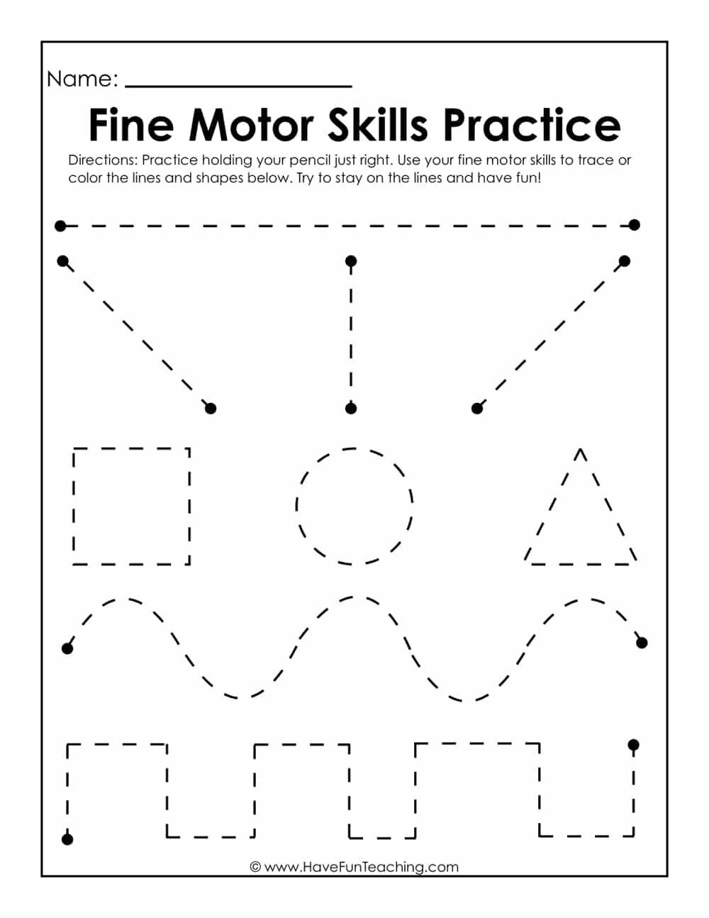 fine motor skills practice worksheet have fun teaching. Black Bedroom Furniture Sets. Home Design Ideas