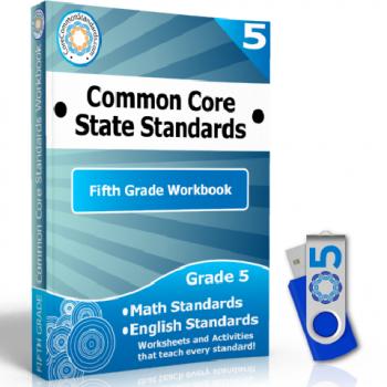 Fifth Grade Common Core Workbook USB