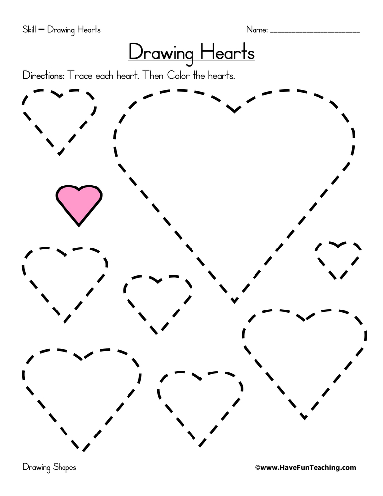 Heart Shape Worksheets For Preschool Www.robertdee.org