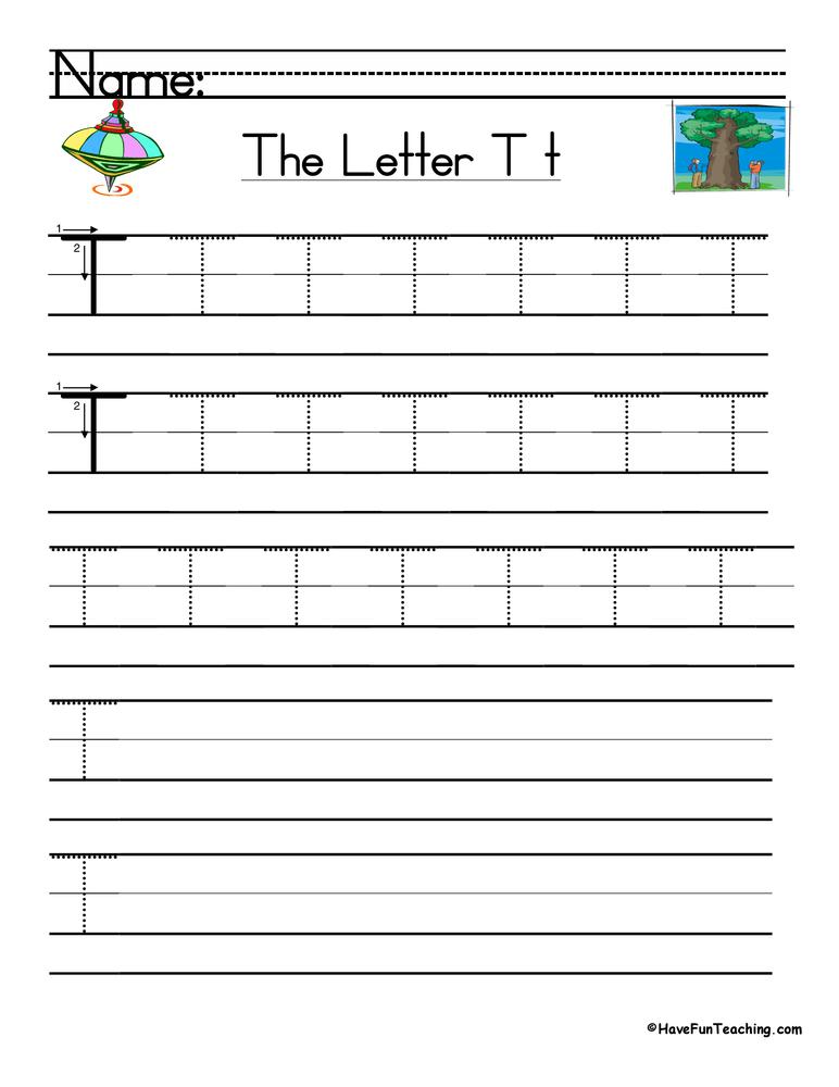 Letter T Handwriting Practice Worksheet  U2022 Have Fun Teaching
