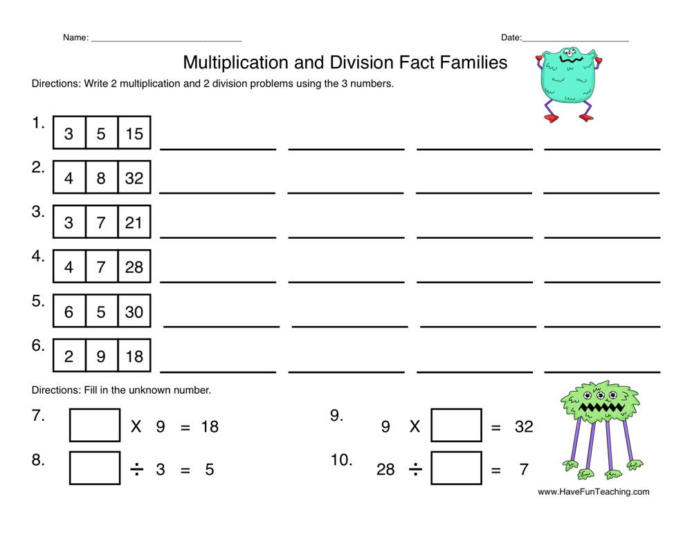 Division Worksheets Have Fun Teaching