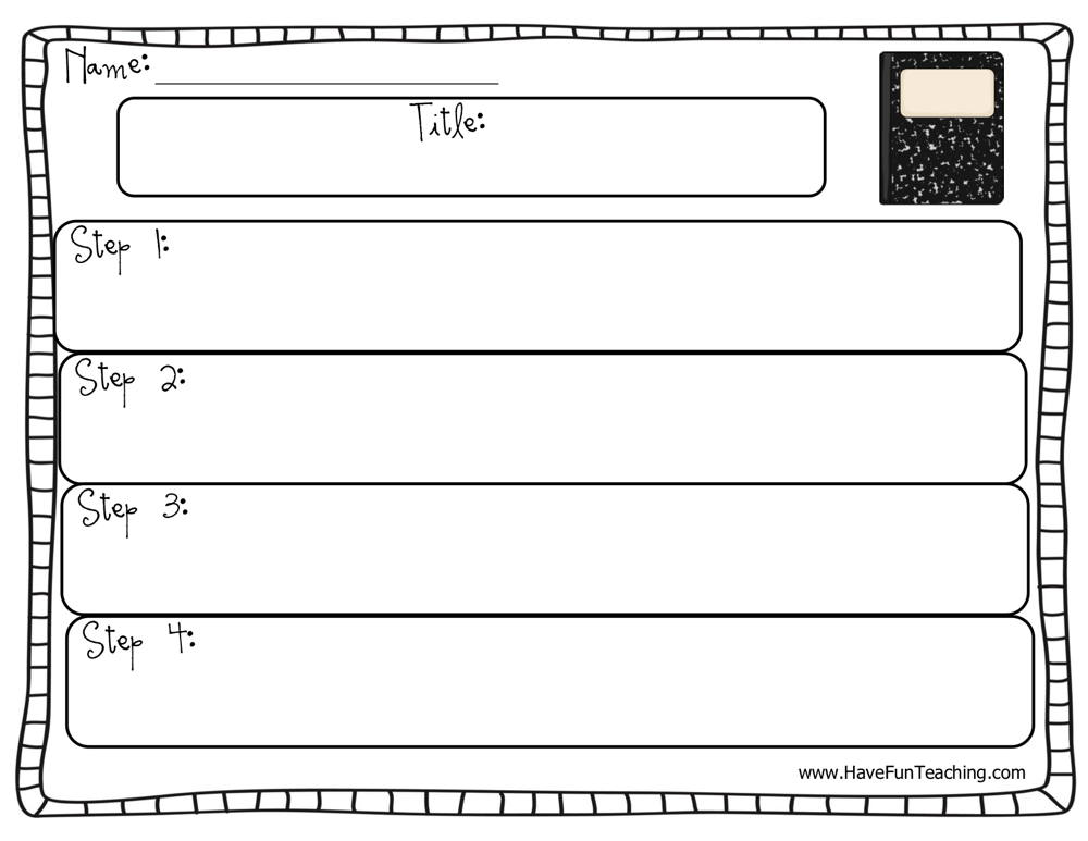 Sequence Of Events Graphic Organizer Worksheet Have Fun Teaching
