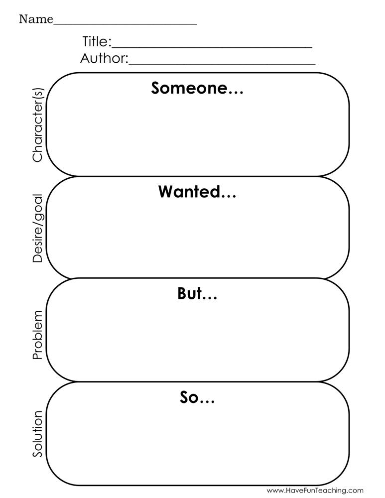 Story Elements Reading Graphic Organizer Worksheet