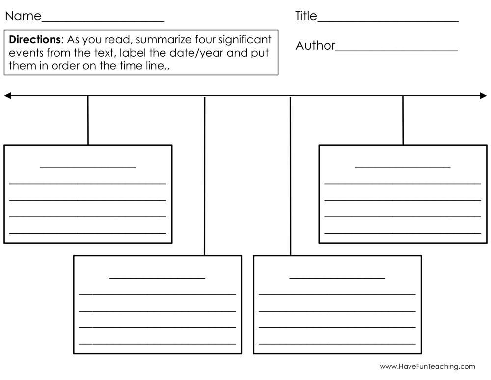Timeline Graphic Organizer Worksheet