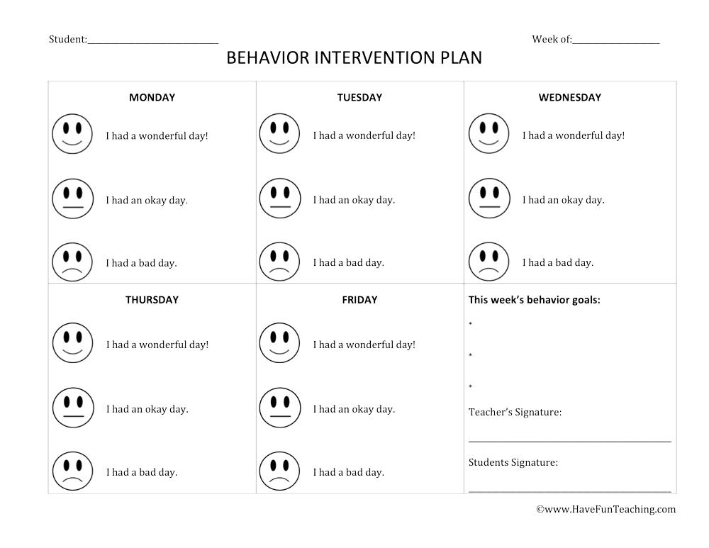 Behavior Intervention Lesson Plan Template | Have Fun ... on simple behavior plan template, crisis behavior intervention plan template, positive behavior intervention plan template, targeted behaviors chart behavior intervention plan template,