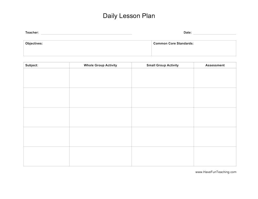 Weekly lesson plan template (editable) | tpt.