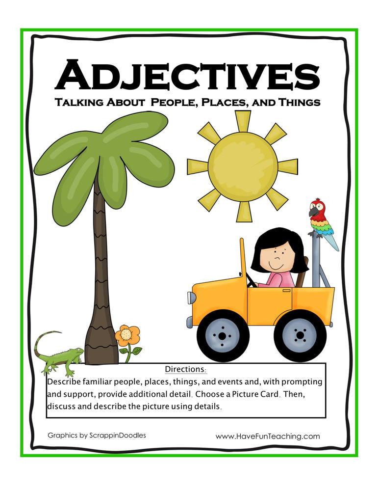 Describing Nouns Adjective Activity