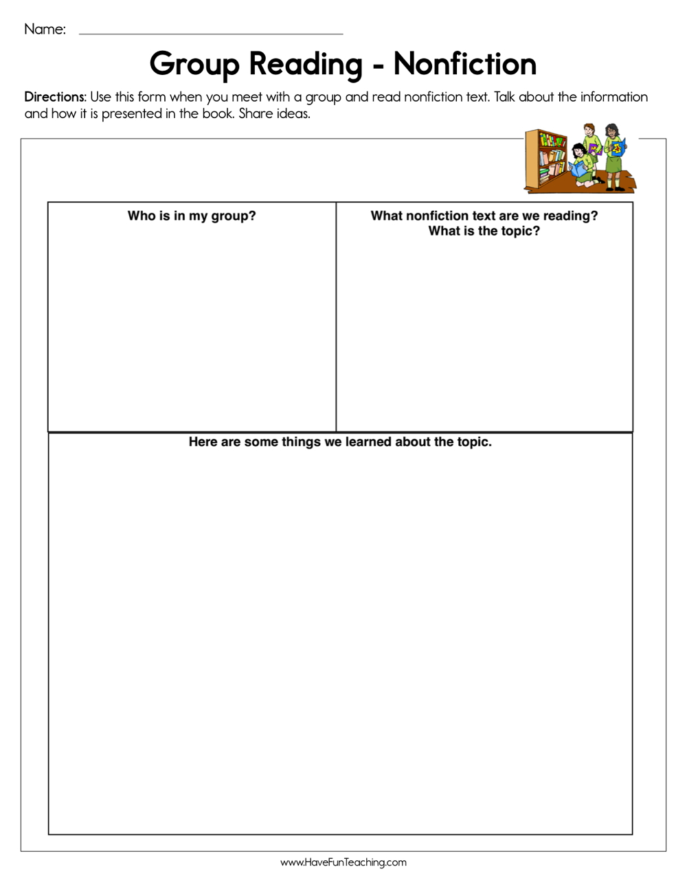 - Group Reading Non-Fiction Worksheet • Have Fun Teaching