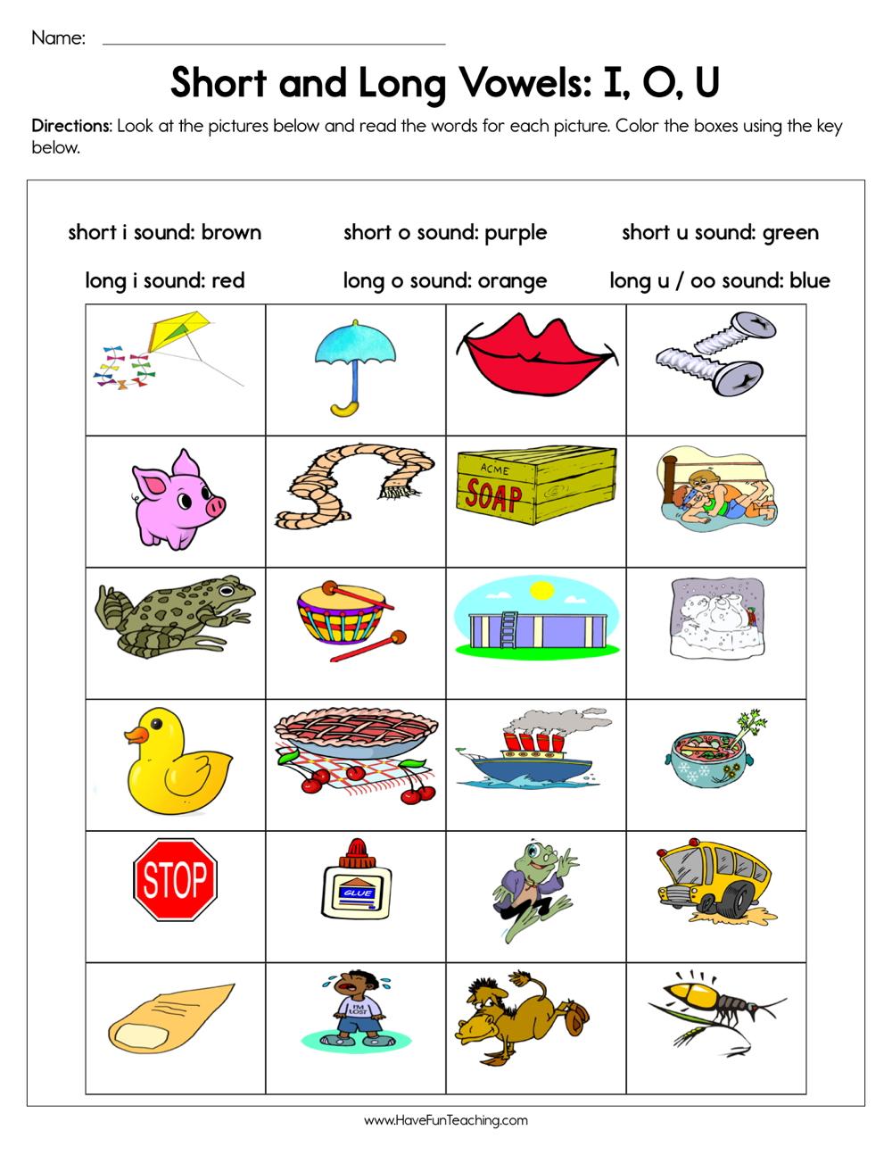 Kinder Garden: Long Vowels Worksheets