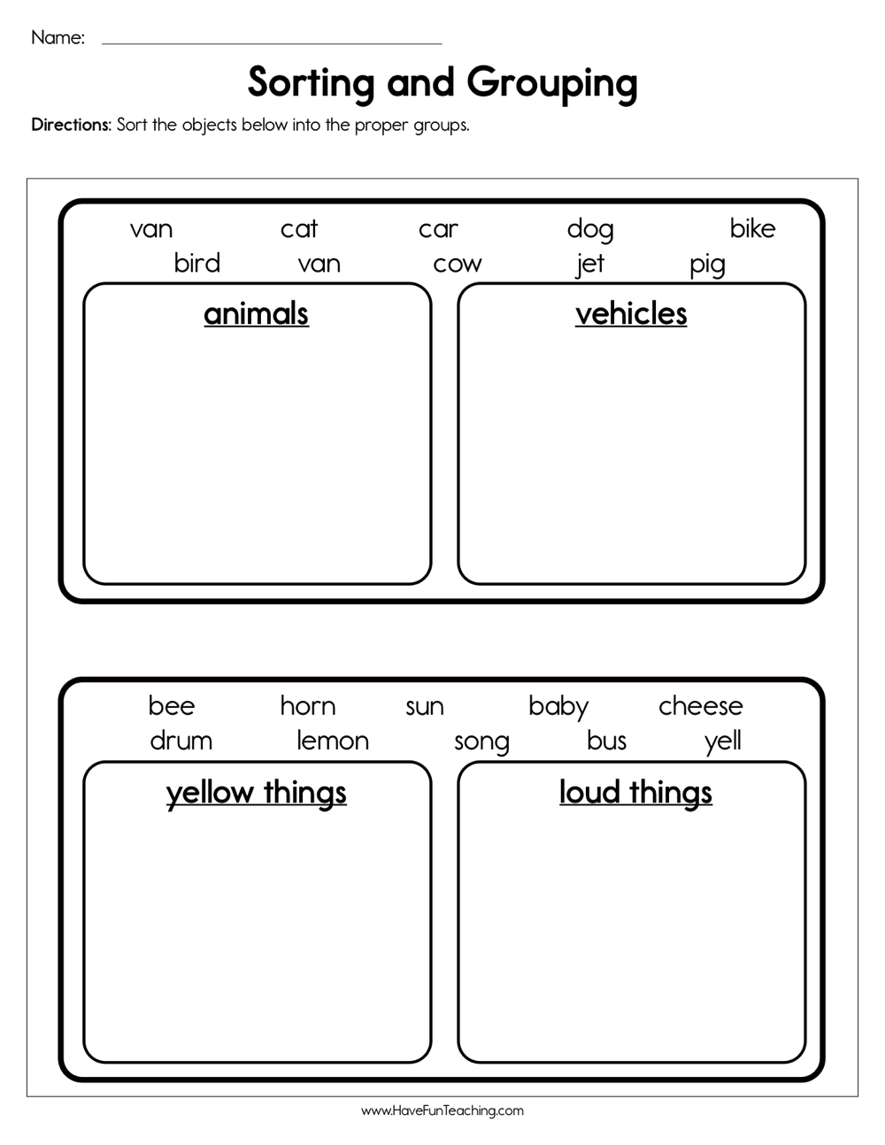resources science classification worksheets. Black Bedroom Furniture Sets. Home Design Ideas