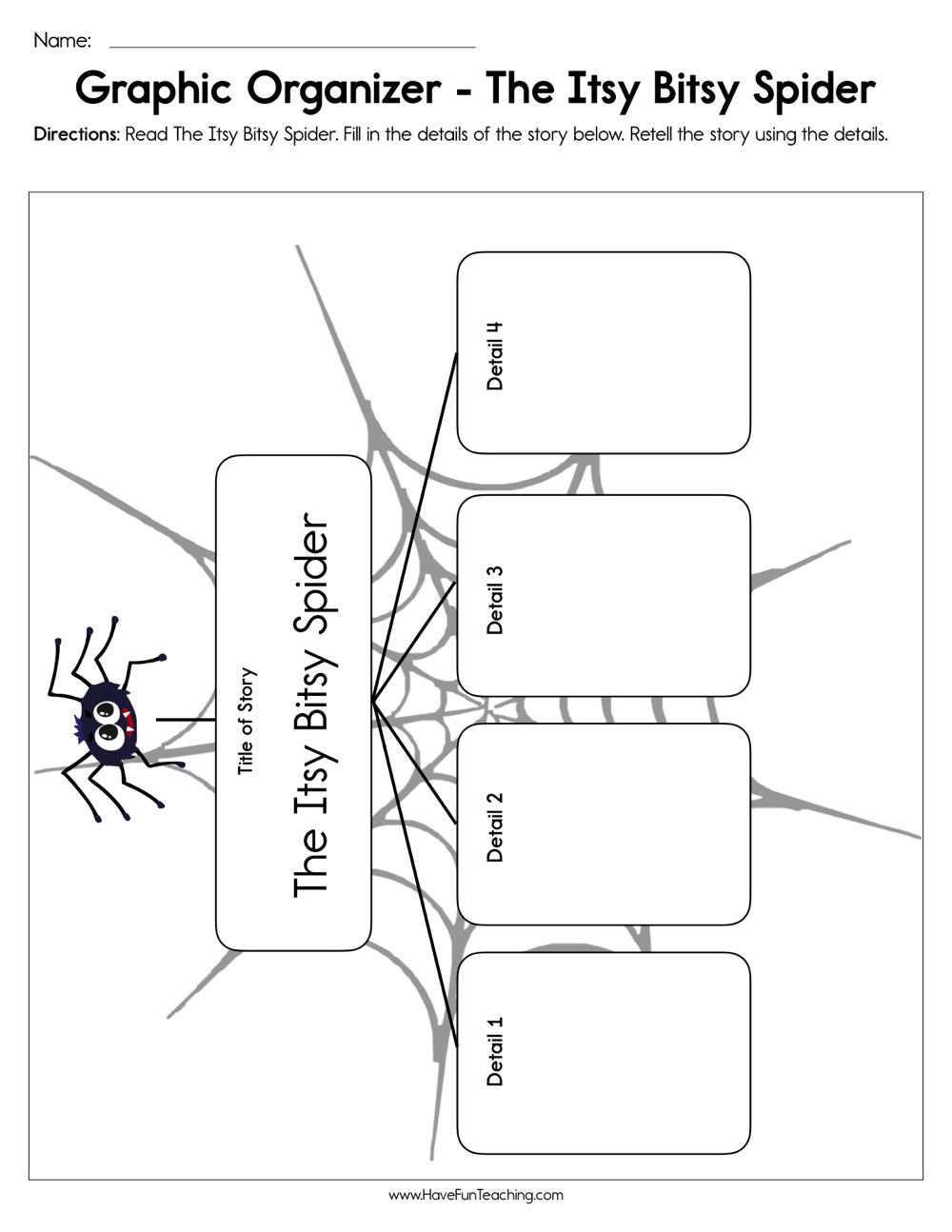 The Itsy Bitsy Spider Graphic Organizer Worksheet | Have ...