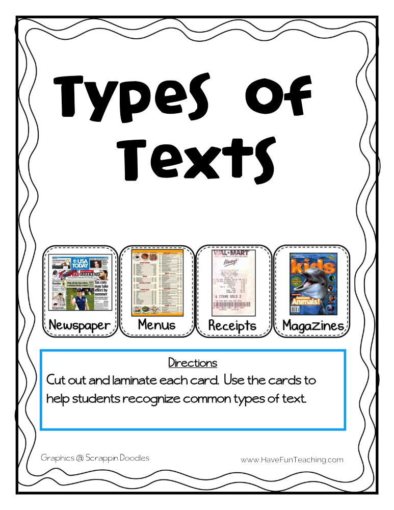 Types of Text Activity