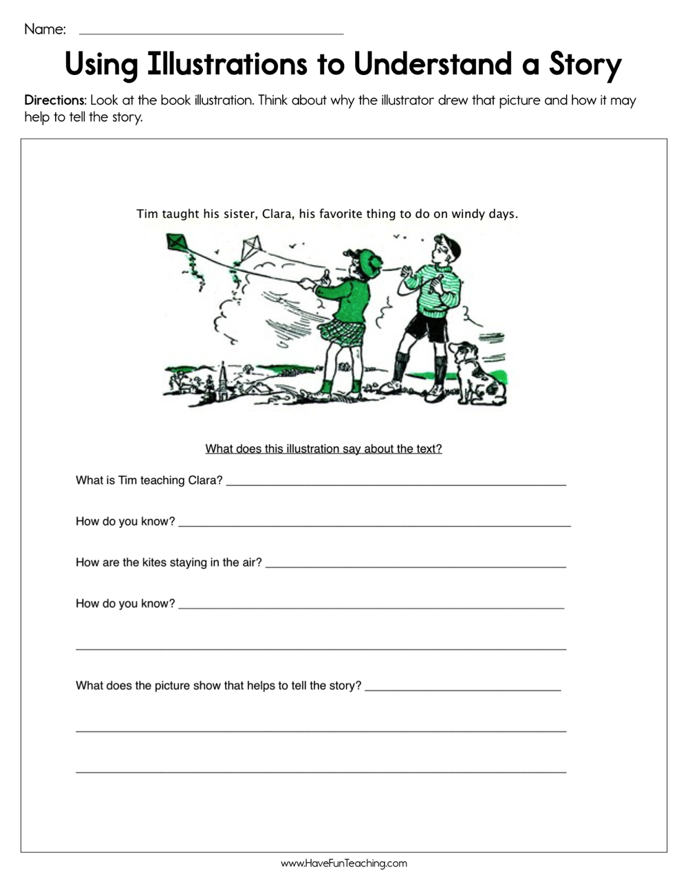 Using Illustrations to Understand a Story Worksheet | Have ...
