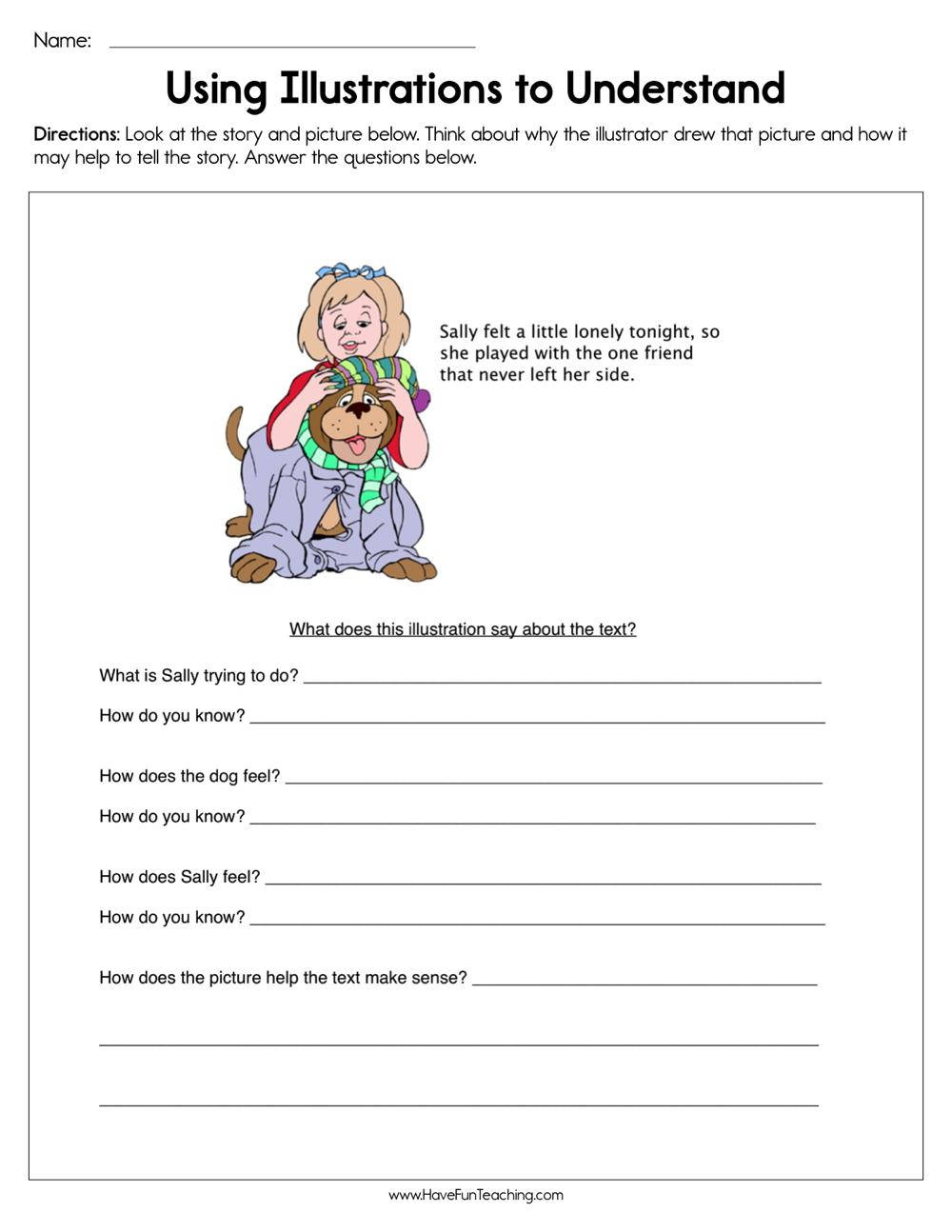 Using Illustrations to Understand Worksheet