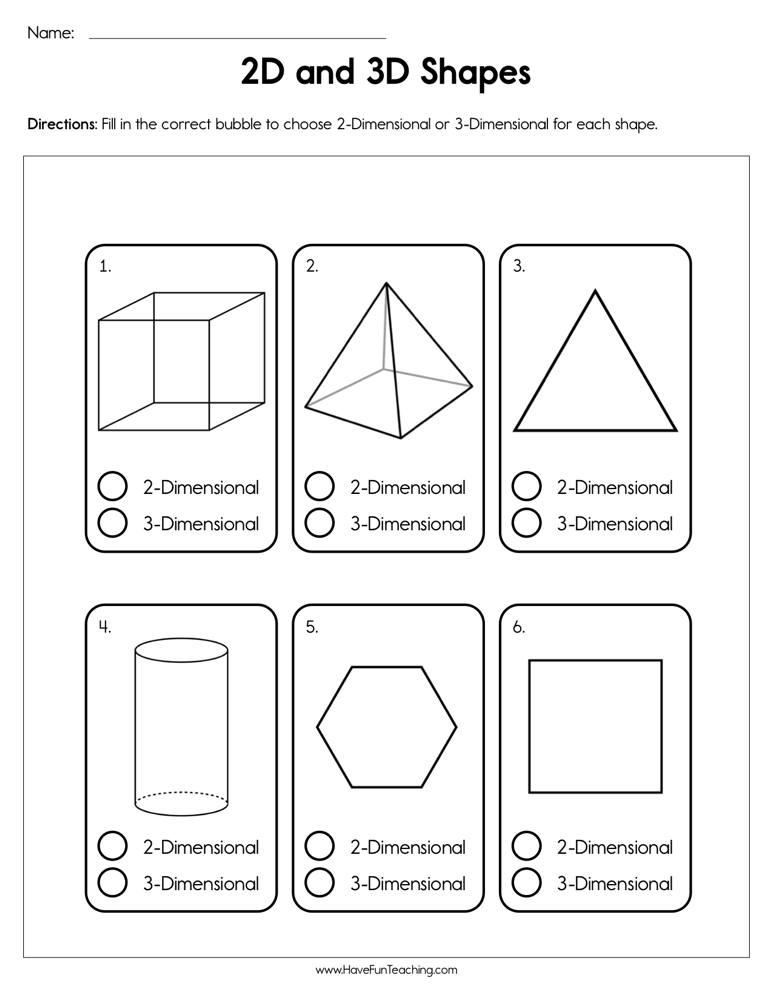 2d And 3d Shapes Worksheet Have Fun Teaching