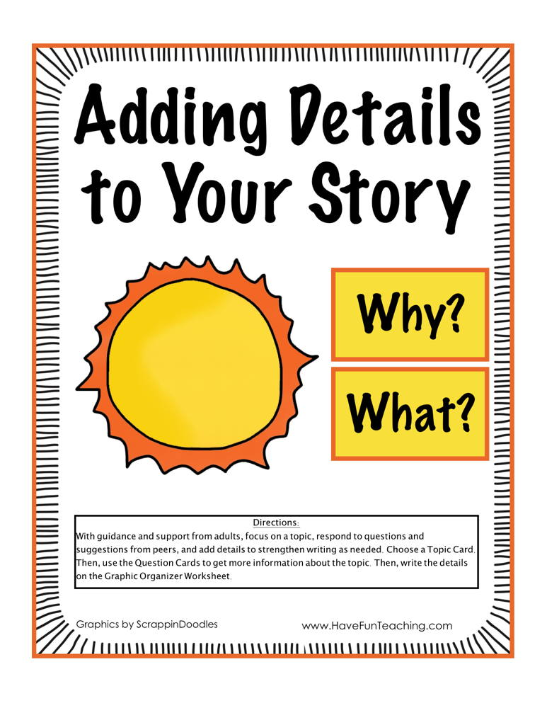 Adding Details to Your Story Activity