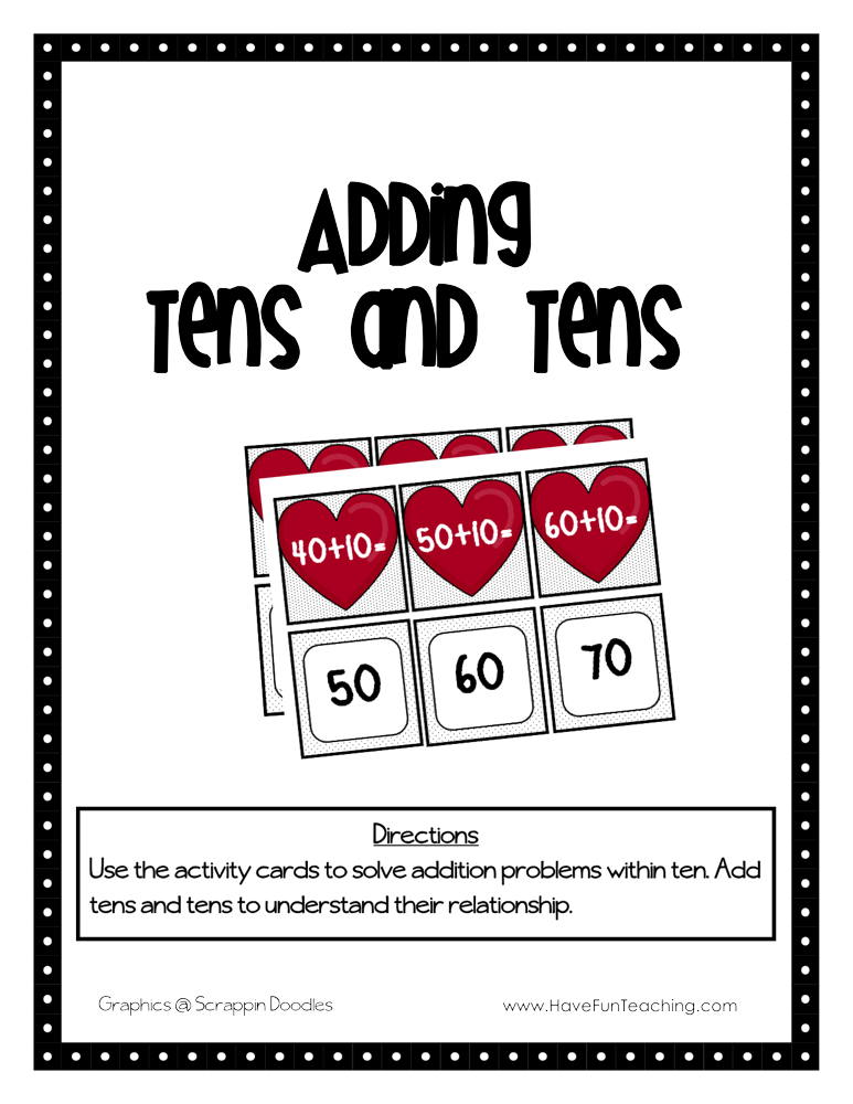 Adding Tens and Tens Activity