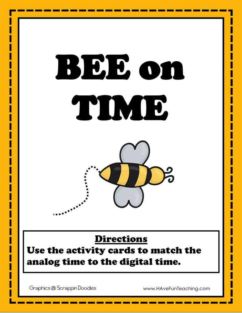 Bee on Time to the Hour Activity