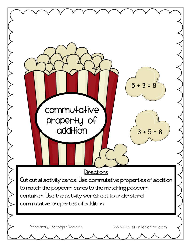 Commutative Property of Addition Activity