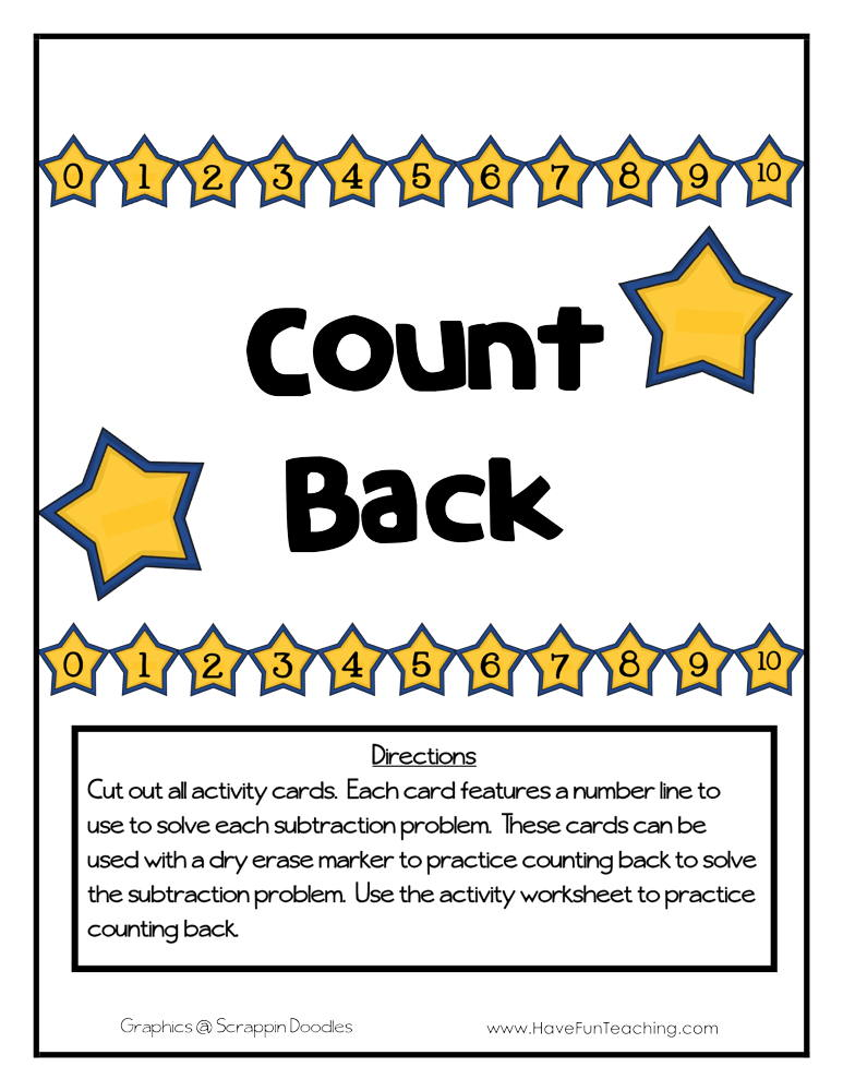 Count Back Activity