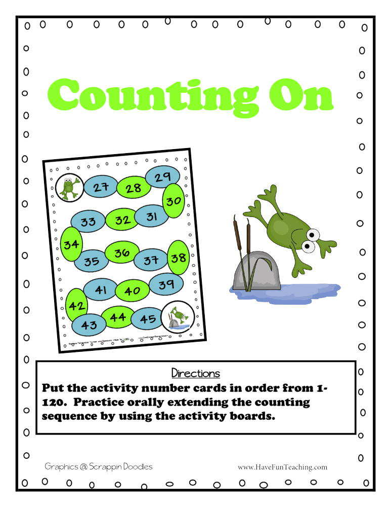 Counting on to 120 Activity