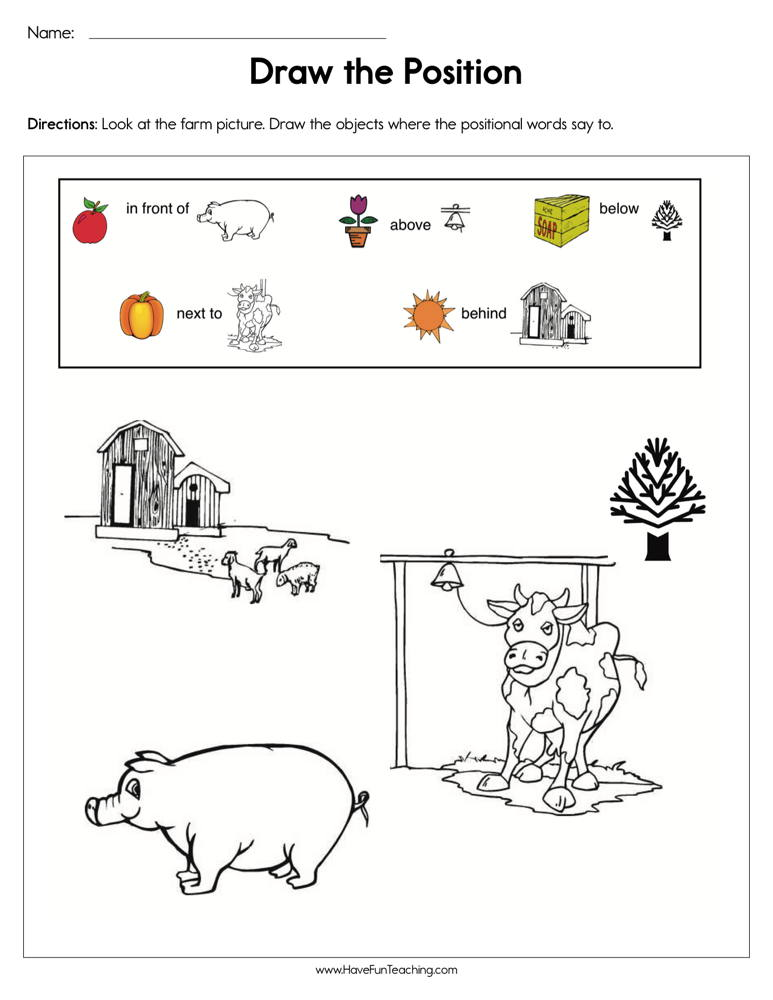 Draw the Positions Worksheet