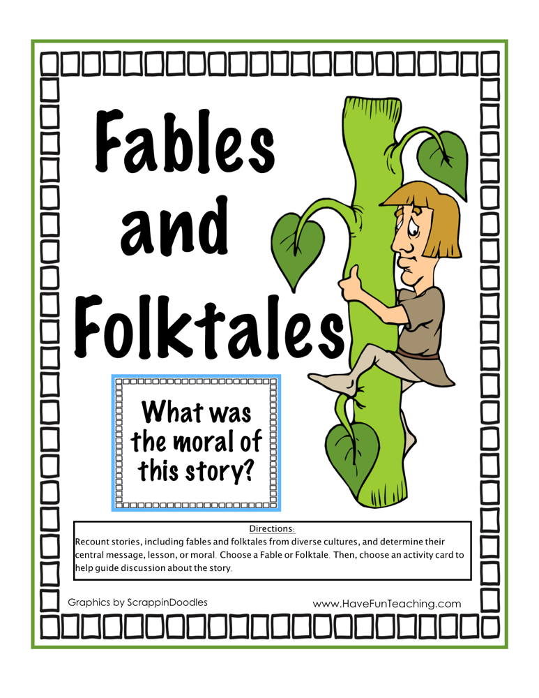 Fables and Folktales Activity