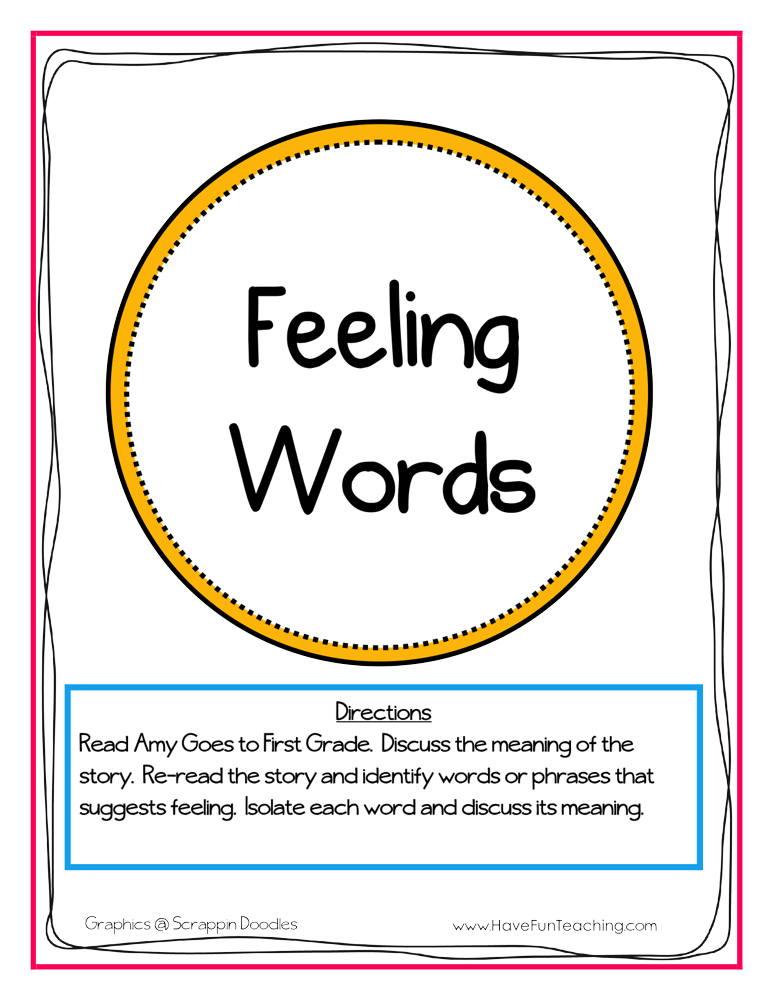 Feeling Words Activity