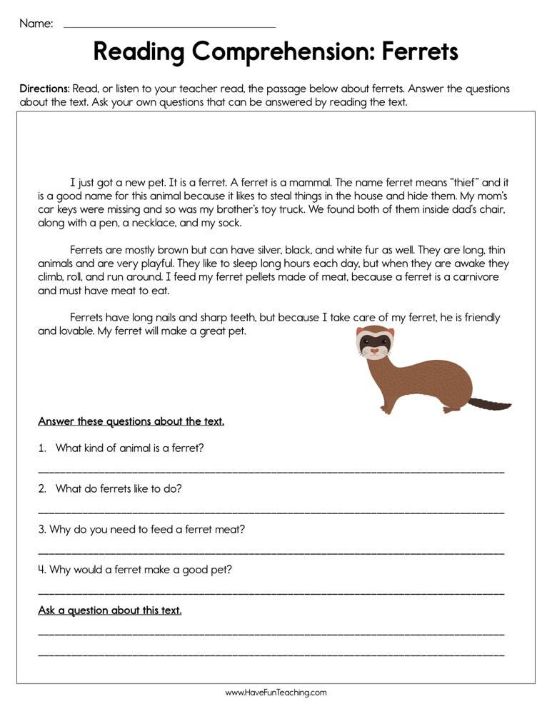 Resources | Preschool | Reading | Reading Comprehension