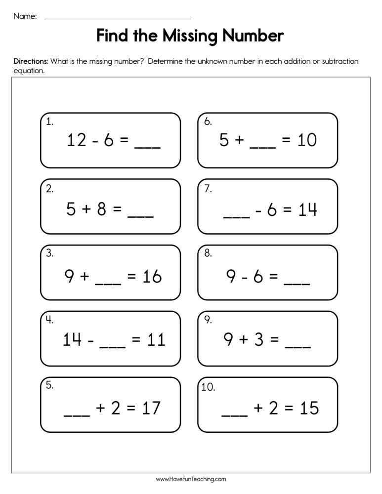 Kindergarten Addition Worksheets Have Fun Teaching