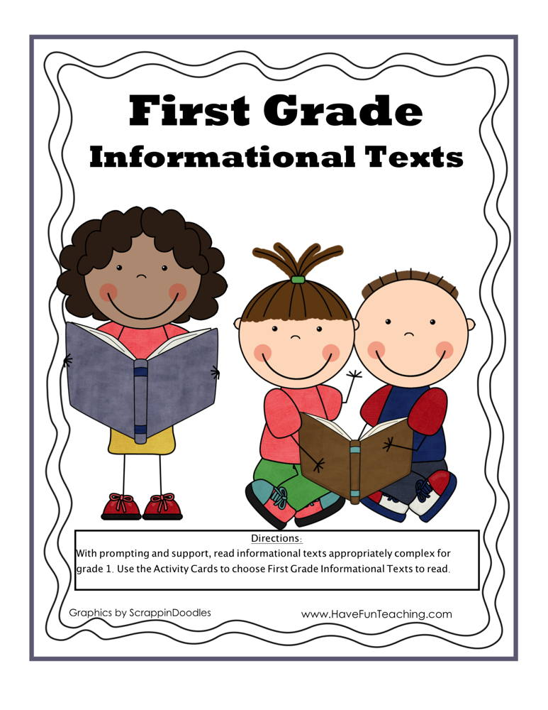 First Grade Informational Texts Activity