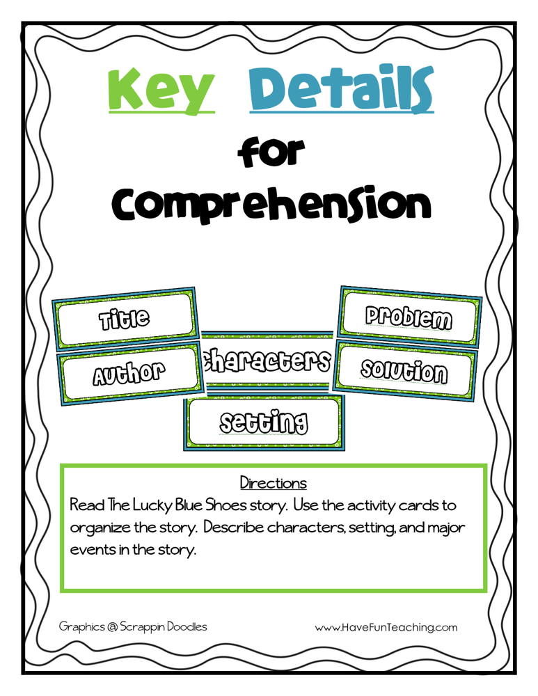 Key Details for Comprehension Activity
