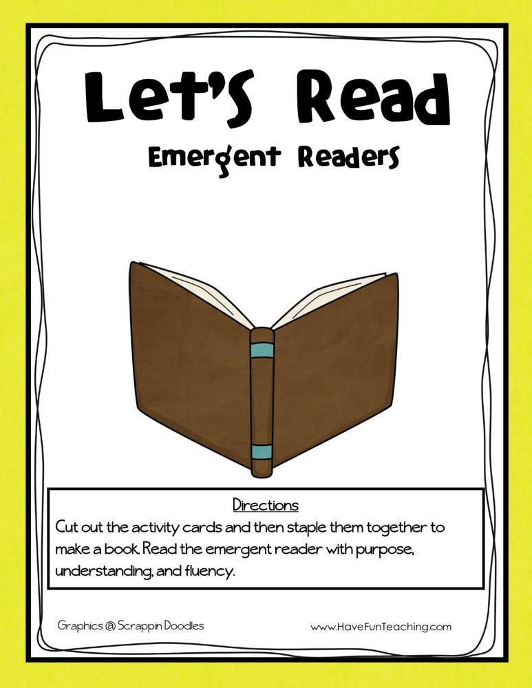 Let's Read Emergent Readers Activity
