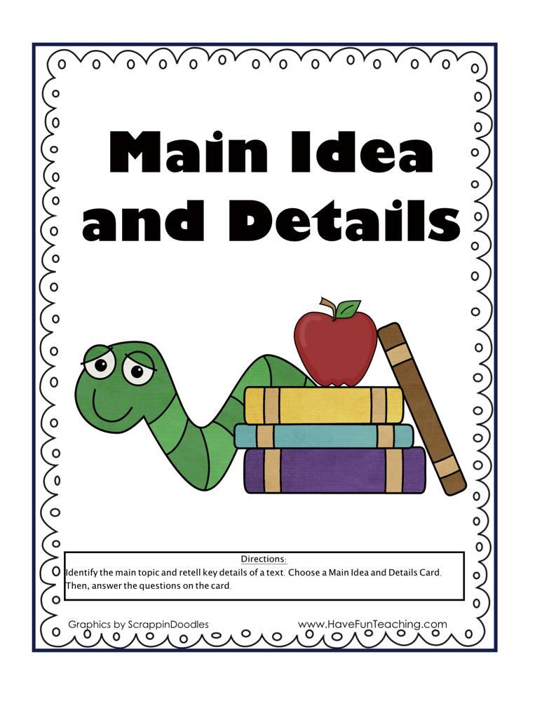 Main Idea and Details Reading Activity
