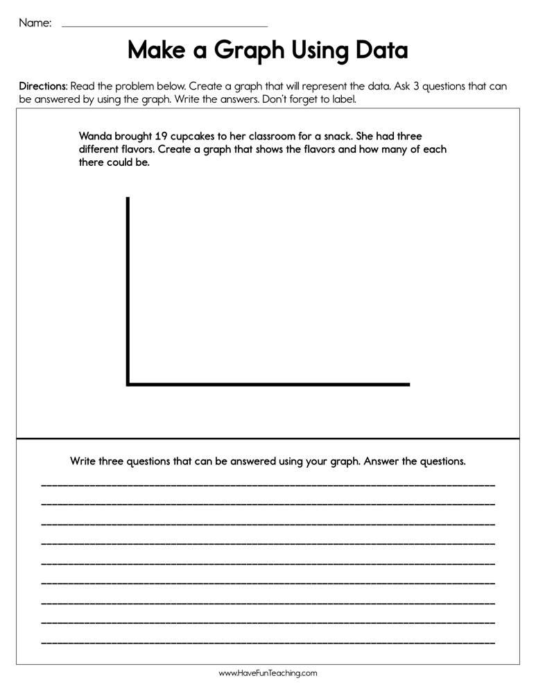Making a Graph Using Data Worksheet | Have Fun Teaching