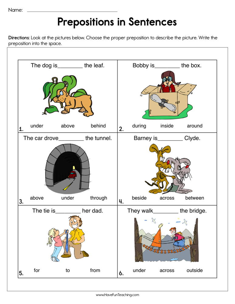 Prepositions Worksheets | Have Fun Teaching on preposition worksheet for high school, english worksheets for grade 1, science worksheets for grade 1, preposition worksheet for college, preposition activities, adjectives worksheets for grade 1, preposition activity sheets to print, preposition worksheets grade 5, reading worksheets grade 1, grammar worksheets for grade 1, preposition worksheet for kindergarten, preposition worksheets third grade, preposition worksheets for adults,