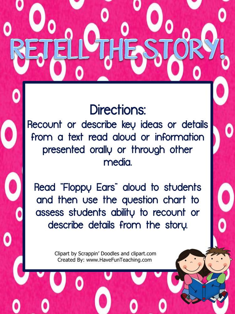 Retell the Story Activity