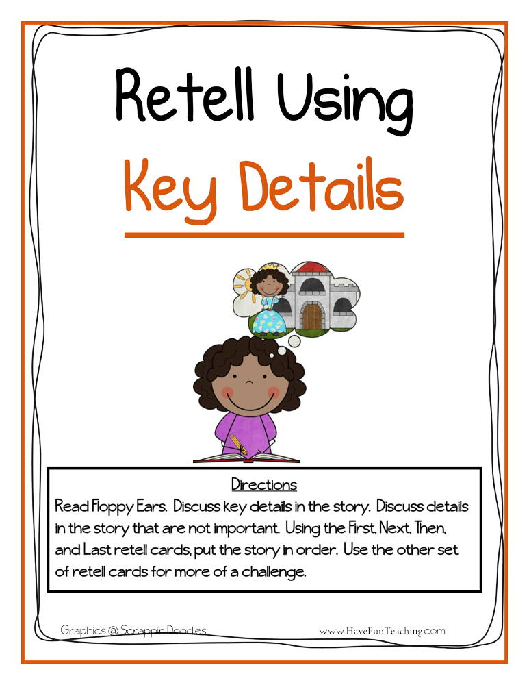 Retelling Using Key Details Activity Have Fun Teaching