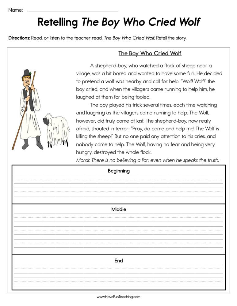 the boy who cried wolf coloring sheet