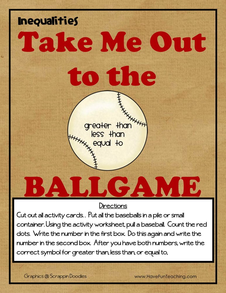Take Me Out to the Ballgame Inequalities Activity