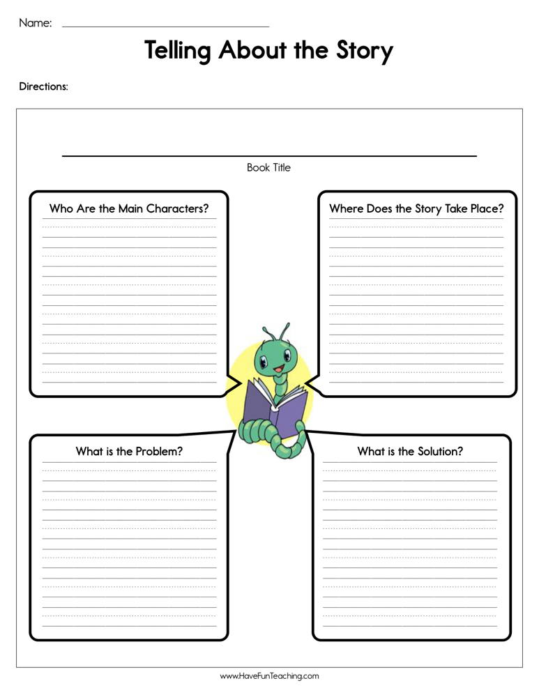 Telling About the Story Worksheet