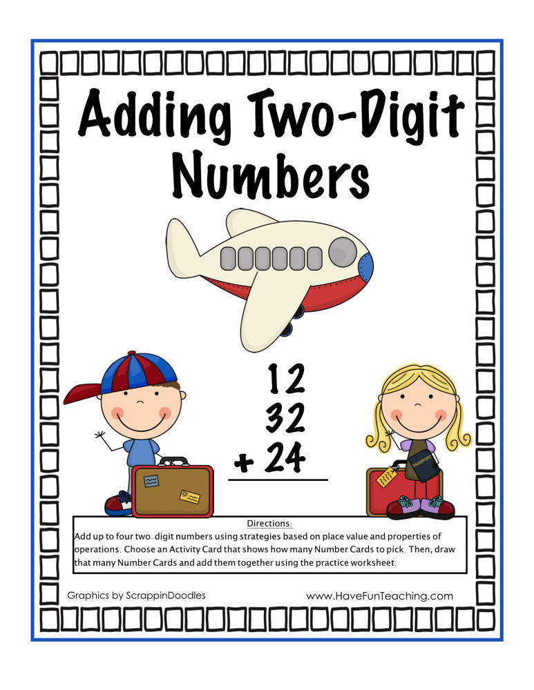 Adding Two Digit Numbers Activity