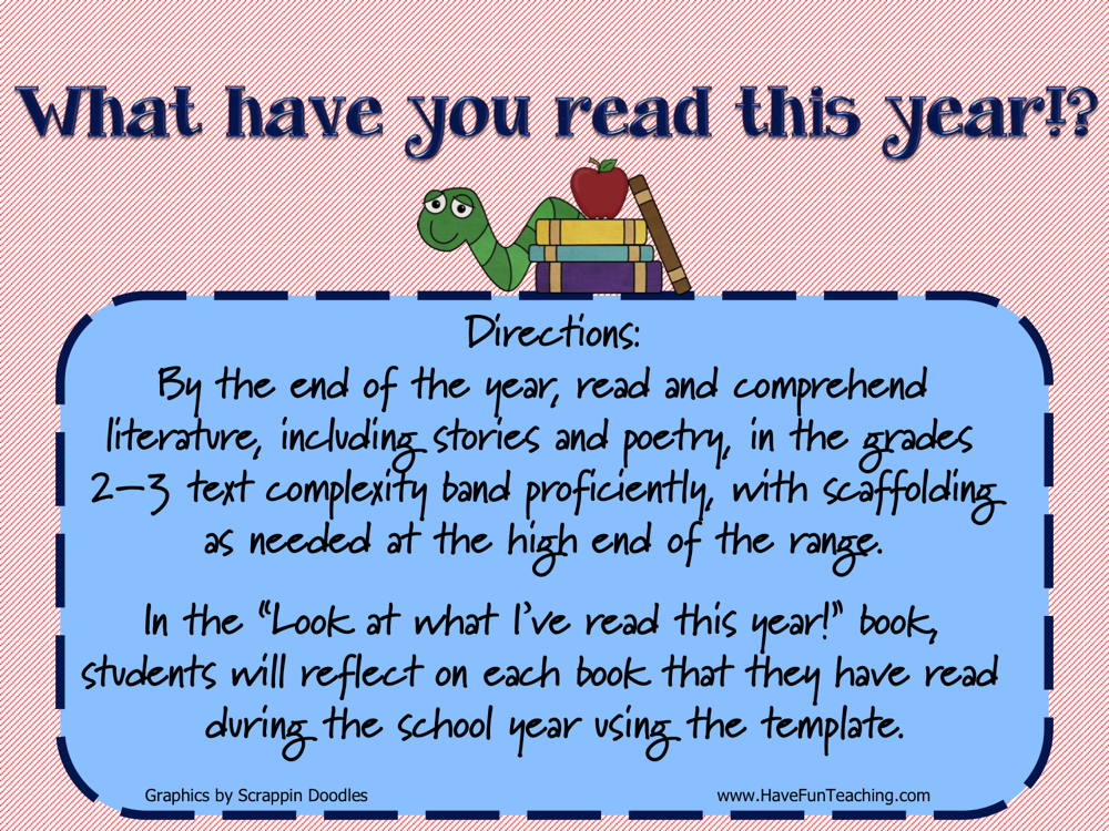 What Have You Read This Year Activity