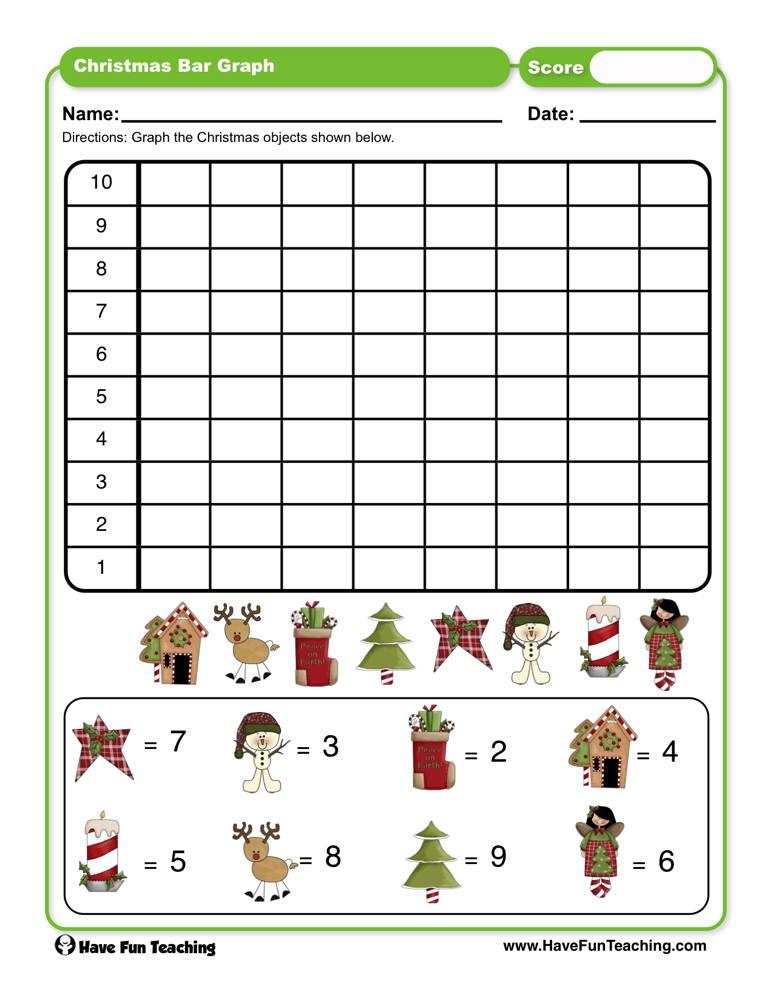 Christmas Bar Graph Worksheet