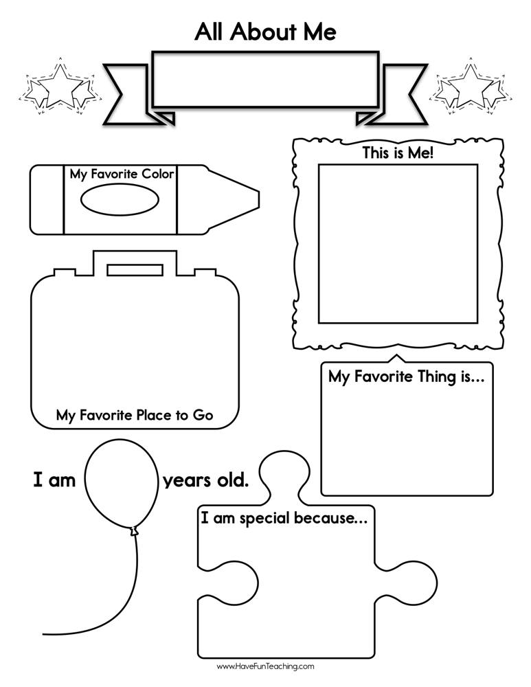 About Me Worksheet | Have Fun Teaching